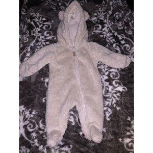 Newborn baby furry coat
